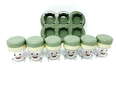 Baby Bullet Baby Food Containers Set of 6 With Lids Color Olive Green Used