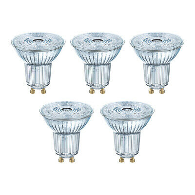 OSRAM LED BASE PAR16 GU10 GLAS 3,6W=50W 350lm warm white 2700K nodim GERMANY 5er