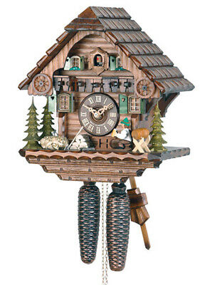 Hekas 879.. 8 Day Cuckoo Clock.. New!! (German/black Forest) Animated Movement!!
