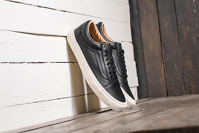 032cb1eb84 new mens 7 wmns 8.5 vans old skool lux leather black porcini sk8
