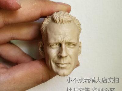 unpainted 1/6 Scale Bruce Willis Head Sculpt John Mcclane Die Hard Kit Bashing