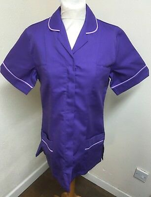 Unicorp Purple - Purple Trim Ladies Tunic Nurse, Vets, Care  Uniforms