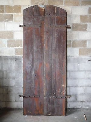 Antique Galvanized Industrial Double Entry Door - C. 1890 Architectural Salvage
