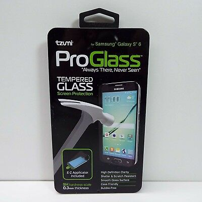 Official Tzumi Proglass Tempered Glass Screen Protection Samsung Galaxy S6 (B290