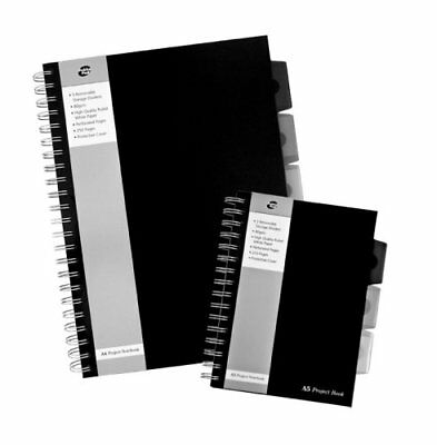 Pukka Pad A5/A4 Black Business Project Book Polyprop 250 Pages 80gsm Wirobound
