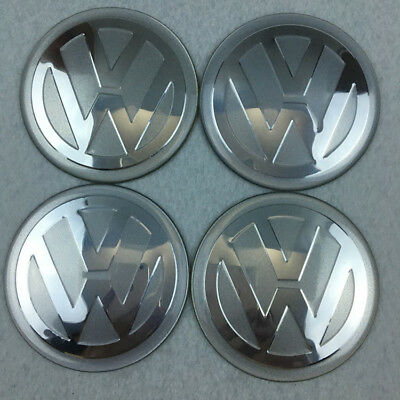 4X 65mm Car Wheel Center Hub Caps Curved Stickers Emblem Badge For VW Volkswagen