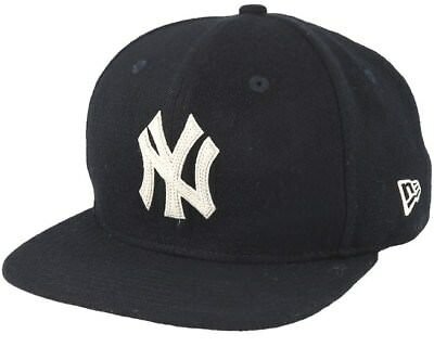 New Era 9FIFTY MLB new York Yankees Melton Black Original Fit Snapback Hat 474025592065