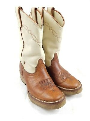 Laredo Womens Boots Brown Beige Cowboy Cowgirl Western 28 6964 Size 7 M Two Tone