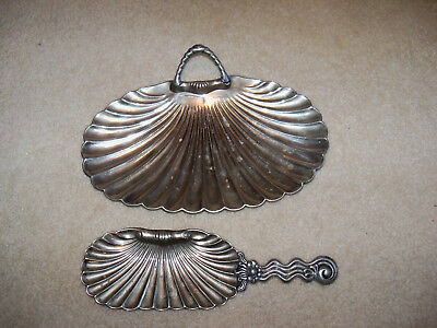2 Vintage Rogers Smith & Co Meriden Conn. 21 Silverplate SHELL FORM Dish Vanity