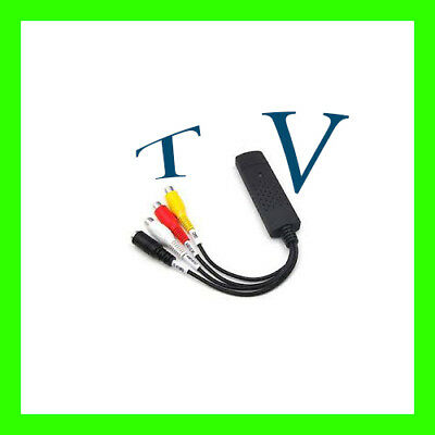 Usb Vhs To Dvd Converter Video Audio Capture Card Adapter Editing Software Cd