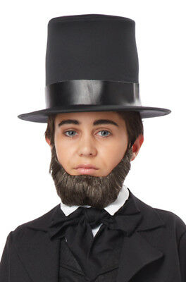 Child Honest Abe Abraham Lincoln Beard (Dark Brown)