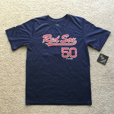 Alert Boston Red Sox Mlbpa Mookie Betts #50 Color Block Youth Boys Tee Shirt Navy Fan Apparel & Souvenirs