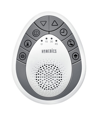 White SoundSpa Mini Portable Sound Machine SS-1200 w/ 4 Relaxing Sounds Portable