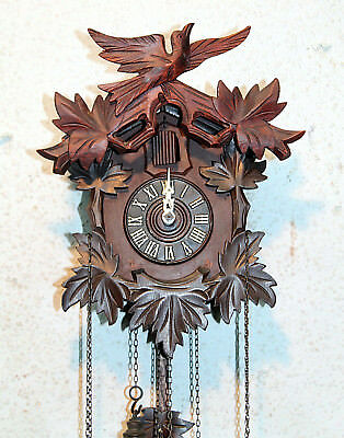 *Old Cuckoo Clock Wall clock Chim Cuckoo Black Forest  Regula made in Germany*