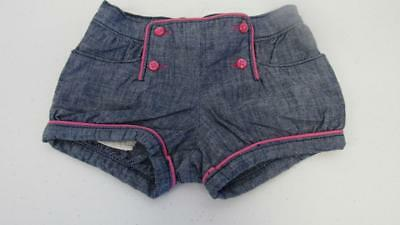 Gymboree Stripes & Anchor Blue Chambray Denim Pull On Shorts Size 3T NEW
