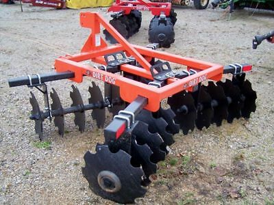 New Dirt Dog HD 7 ft. (3 point) 200-9 Disc Harrow --Can ship very inexpensive!!!