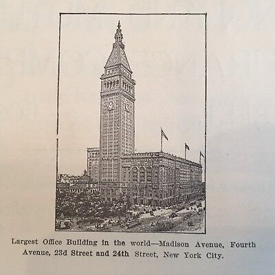 1911 BUSINESS newspaper w full-page ad METROPOLITAN LIFE TOWER Architecture NYC