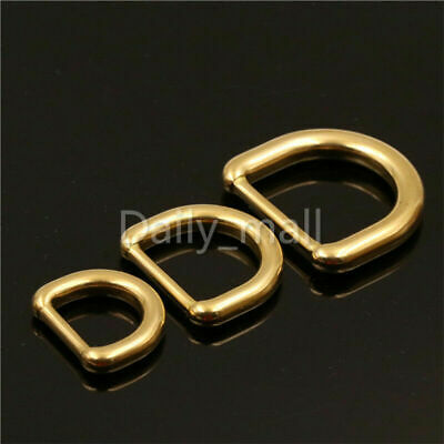 Molded brass heavy duty D ring buckle for Leather bag purse strap belt webbing