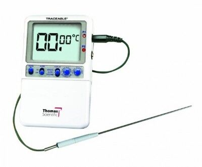 Thomas Traceable Extreme-Accuracy Thermometer, 6.25 Stem