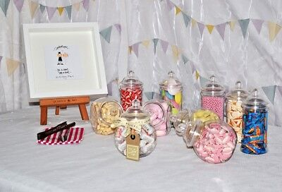 Sweet Jars - Package Candy Cart/Sweet Table Wedding Christening Party Engagement