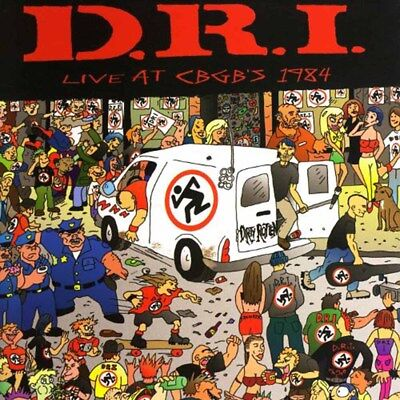 D.R.I. - Live at CBGB's 1984  LP  WHITE