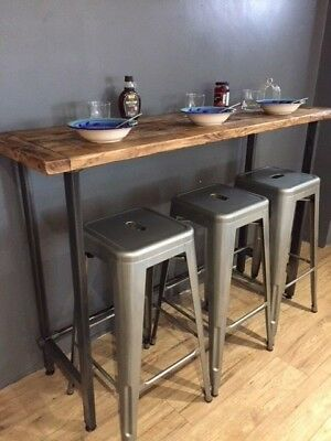 Breakfast bar table / Bistro table made / Bar Table Reclaimed Wood - MADE IN UK