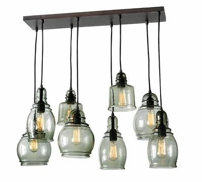 Pottery Barn Paxton Gl 8 Light Pendant Chandelier For 10 Foot Ceiling New