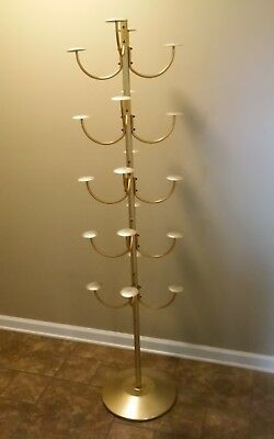 Vintage Retail hat rack stand brass display 20 hats