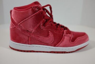 best service ccd73 443cb Nike SB Dunk High Pro Premium Red Velvet Gym Red Men s Size 9 313171-661