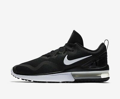 online store 8245a fa236 Nike Air Max Fury AA5739-001 Black White Men s Running Shoes NEW!