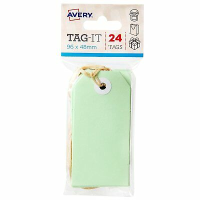 Avery Tag It 96 x 48mm 24 Tags Green 22853
