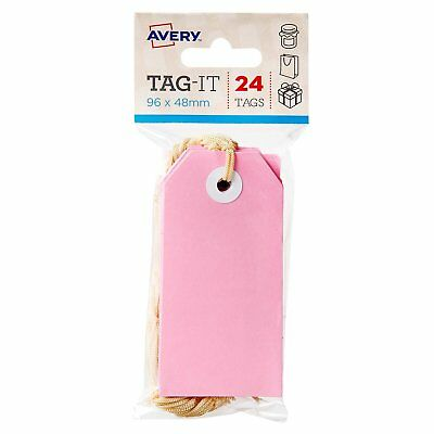 Avery Tag It 96 x 48mm 24 Tags Pink 22851