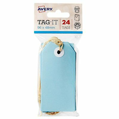 Avery Tag It 96 x 48mm 24 Tags Blue 22852