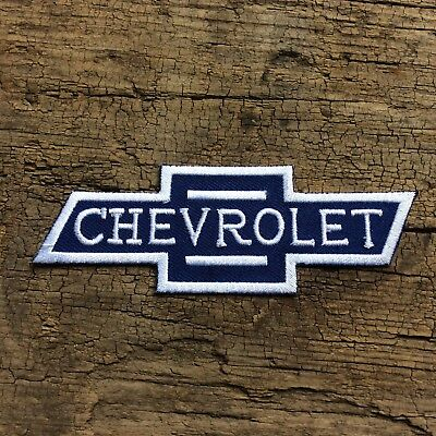 Leather Vest Jacket Patch sew on' CHEVROLET ' chev bow tie Classic car auto