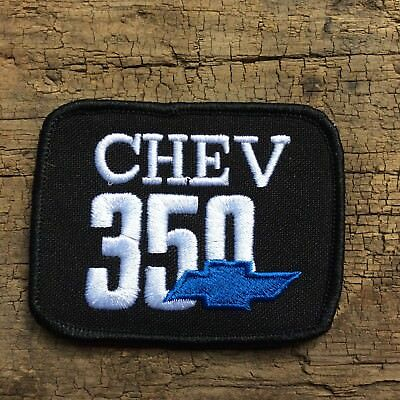Leather Vest Jacket Patch sew on' CHEV 350 ' chev bow tie Classic car auto
