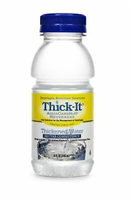Thickened Water Thick-It® AquaCareH2O® 8 oz Bottle Unflavored Nectar #B451-L9044