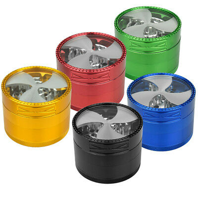 4 Layers 62mm Aluminum Alloy Tobacco Herb Grinder Fashion Fan Leaves Design