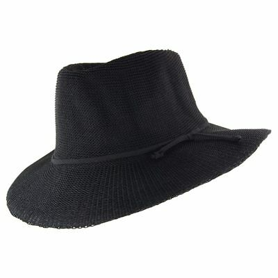 Cancer Council Ladies Jacqui Mannish Hat- Black Combo