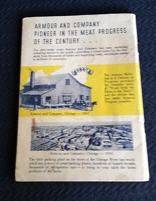 Cookbook Chicago Century Of Progress 1934 Chicago Armour Building Meat Selection