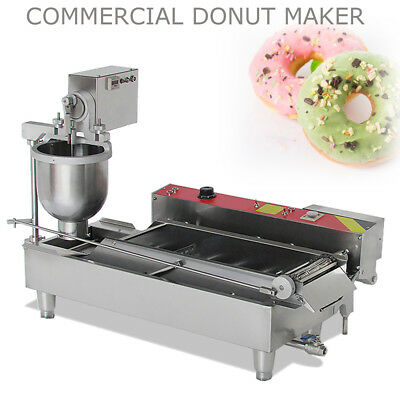 3 Sets Free Mold Commercial Automatic Donut Maker Making Machine Large Hopper CE