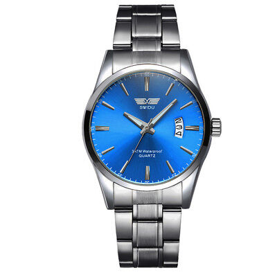 2018 Fashion Mens Luxury Date Stainless Steel Band Quartz Sport Wrist Watch