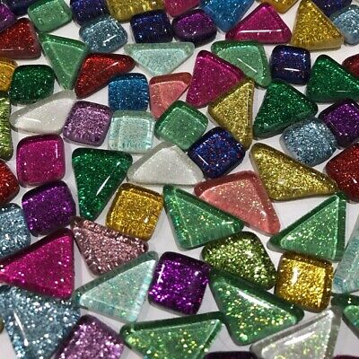 120g 4mm Mixed Glitter Glass Mosaic Tiles Kitchen Bathroom Art & Craft Supplies