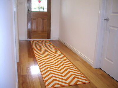 Hallway Runner Hall Runner Rug Modern Orange 3 Metres Long 57543 Orange