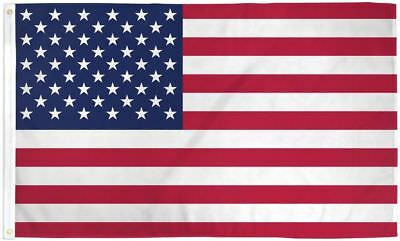 BIG US Flag 4x6 ft Polyester with Metal Grommets USA American America Stars