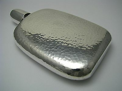 CHINESE EXPORT STERLING SILVER FLASK CAP-CUP HAMMERED FLASK Asia Cnina 1900 Rare