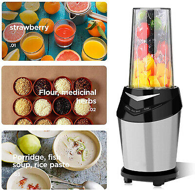 1500W Power Commerical High-Speed Blender Mixer Juicer Food Smoothies with Hold