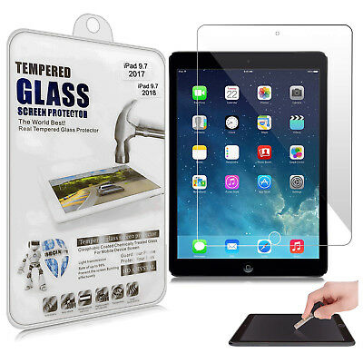 Genuine Tempered Glass Screen Protector For Apple iPad 9.7 5th 6th Generation