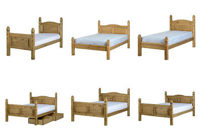 Corona Mexican Pine Wooden Bed - 3FT Single 4FT6 Double 5FT King Size