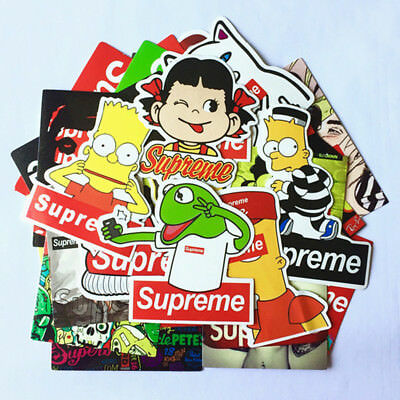 25 Box Logo Supreme Vinyl Sticker Skateboard Luggage Laptop Phone Car Bike Decal