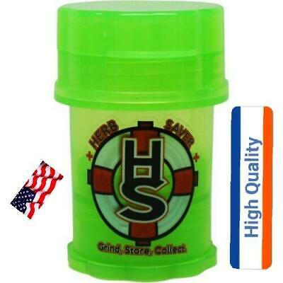 herb saver grinder container medtainer GREEN